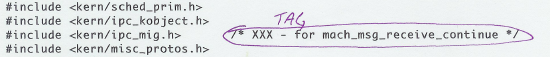 TAG tick example 1